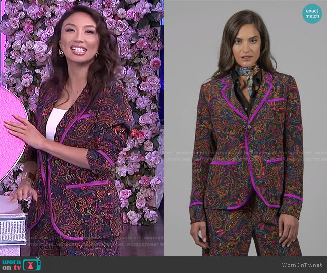 Penelope Jacket by Robert Graham worn by Jeannie Mai  on The Real