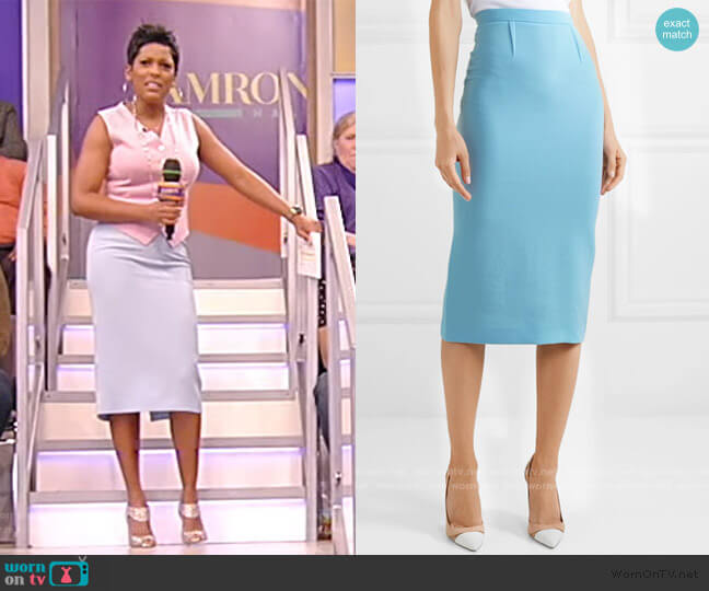 Arreton wool-crepe pencil Skirt by Roland Mouret worn by Tamron Hall  on Tamron Hall Show