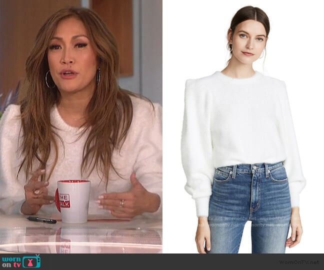 Carina Sweater by Ronny Kobo worn by Carrie Inaba  on The Talk