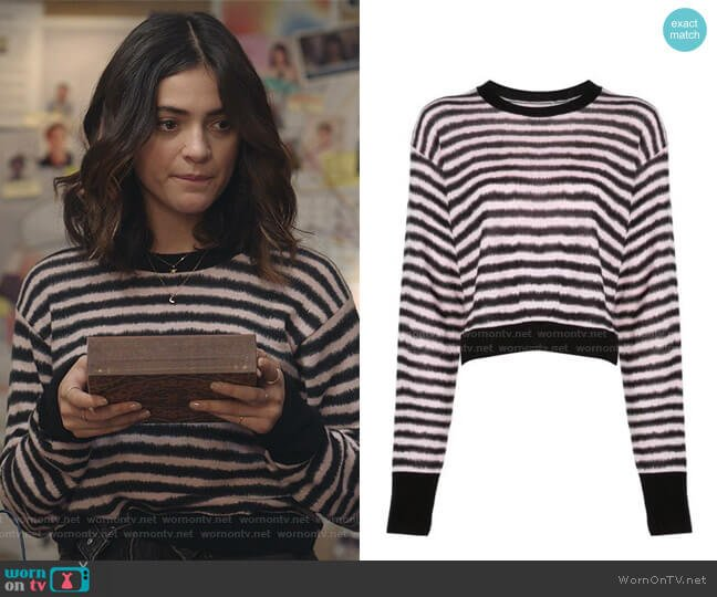August Sweater by RtA worn by Olive Stone (Luna Blaise) on Manifest