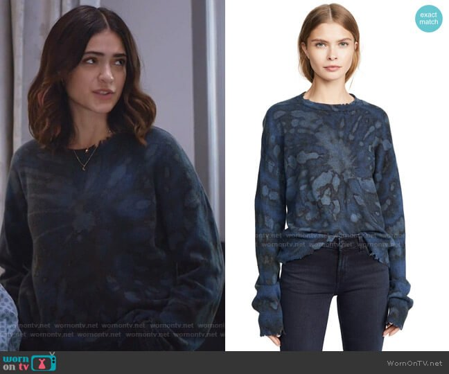 Emma Cashmere Sweater by RtA worn by Olive Stone (Luna Blaise) on Manifest