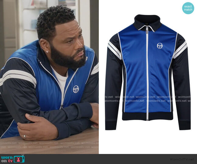 Retro 80's Track Jacket by Sergio Tacchini worn by Andre Johnson (Anthony Anderson) on Blackish