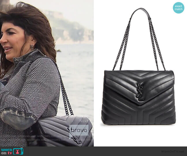 Loulou Matelasse Leather Bag by Saint Laurent worn by Teresa Giudice  on The Real Housewives of New Jersey