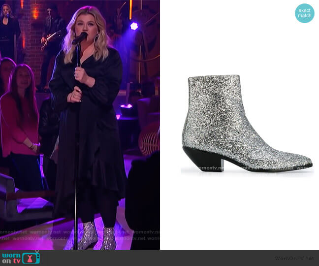 West 45 Boots by Saint Laurent worn by Kelly Clarkson  on The Kelly Clarkson Show