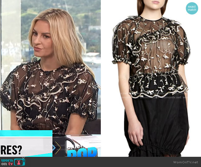 Embroidered Lace Bubble Top by Simone Rocha worn by Morgan Stewart  on E! News