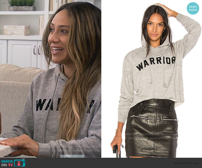 Warrior Arch Crop Hoodie by Spiritual Gangster worn by Melissa Gorga  on The Real Housewives of New Jersey