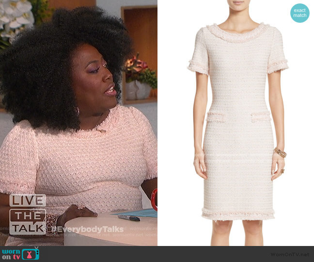 Lais Metallic Tweed Sheath Dress by St. John Collection worn by Sheryl Underwood  on The Talk