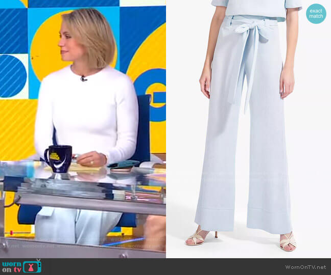 Bernard Pant by Staud worn by Amy Robach  on Good Morning America