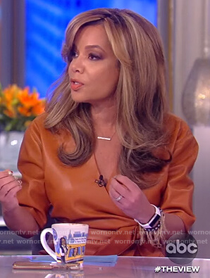 Sunny's leather wrap dress on The View