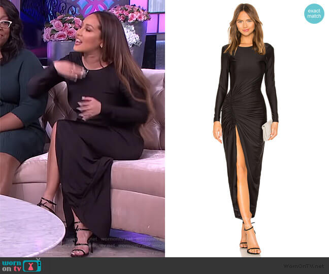 Sarah Ruched Maxi Dress by Superdown worn by Adrienne Houghton  on The Real