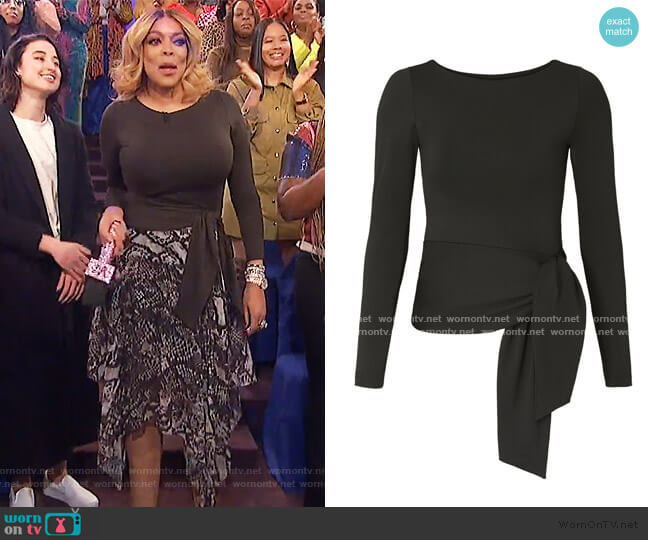 Long Sleeve Tied Top by Susana Monaco worn by Wendy Williams  on The Wendy Williams Show