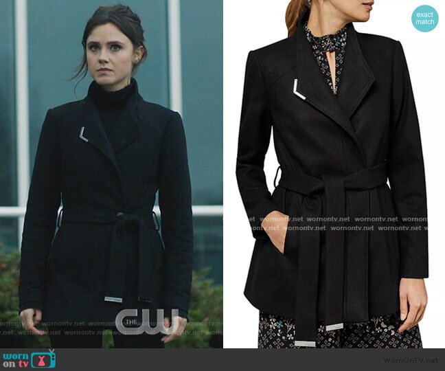 Drytaa Belted Short Coat by Ted Baker worn by Abigael Jameson-Caine (Poppy Drayton) on Charmed