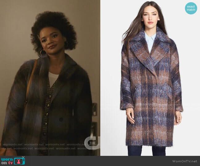 Scarlett Coat by Trina Turk worn by Vanessa (Jade Payton) on Dynasty