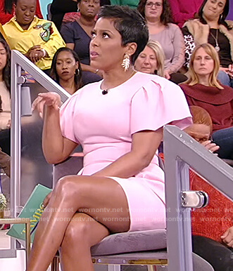 Tamron's pink mini dress on Tamron Hall Show