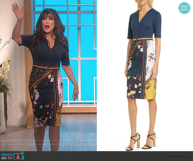 Madiiy Savanna V-Neck Body-Con Dress by Ted Baker worn by Marie Osmond  on The Talk