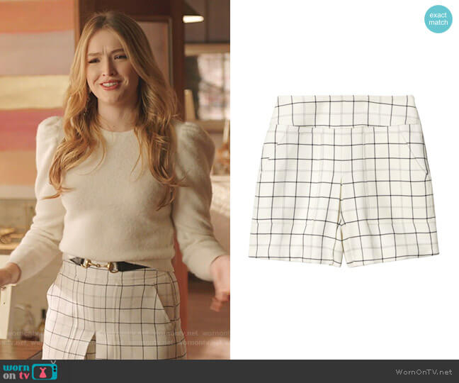 Cargo Skort by Tibi worn by Kirby Anders (Maddison Brown) on Dynasty