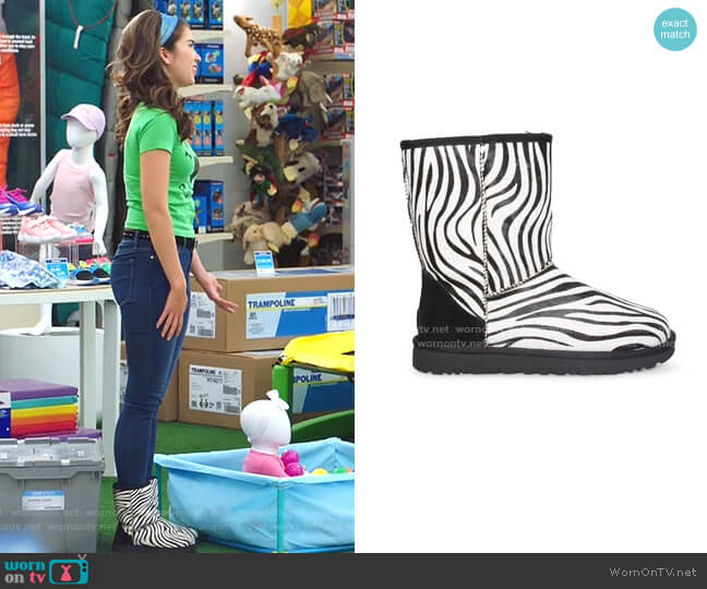 Classic Short Exotic Boot by Ugg worn by Cheyenne (Nichole Bloom) on Superstore