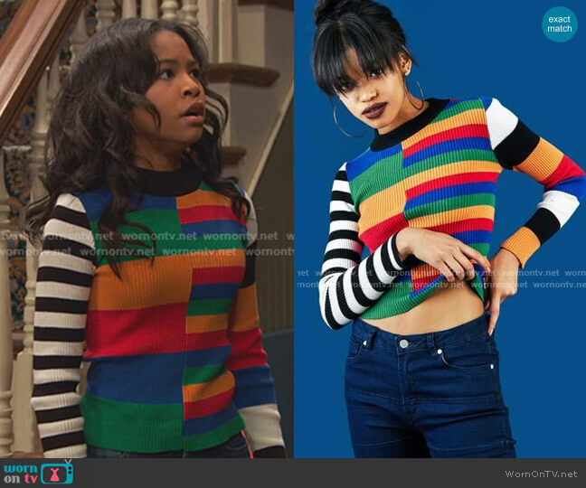 Dylan Top by Unif worn by Nia Baxter (Navia Robinson) on Ravens Home