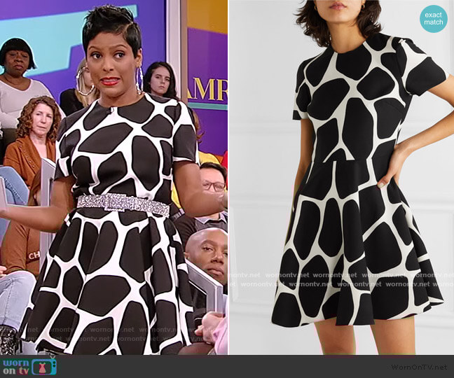 Printed wool and silk-blend crepe Mini Dress by Valentino worn by Tamron Hall  on Tamron Hall Show
