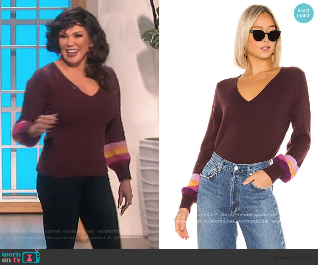 Caren Cashmere Sweater by Velvet by Graham & Spencer worn by Marie Osmond  on The Talk