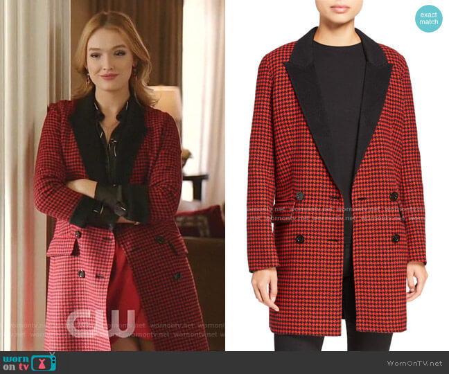 Senna Coat by Veronica Beard worn by Kirby Anders (Maddison Brown) on Dynasty