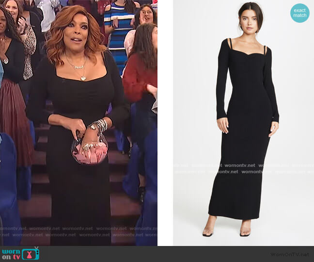 Long Sleeve Ribbed Dress by Victor Glemaud worn by Wendy Williams  on The Wendy Williams Show