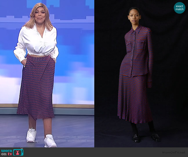 Spirit Circle Skirt by Wales Bonner worn by Wendy Williams  on The Wendy Williams Show