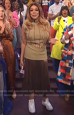 Wendy's Telfar sleeveless top on The Wendy Williams Show