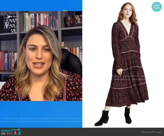 What A Feeling Midi Dress by Free People worn by Carissa Loethen Culiner  on E! News