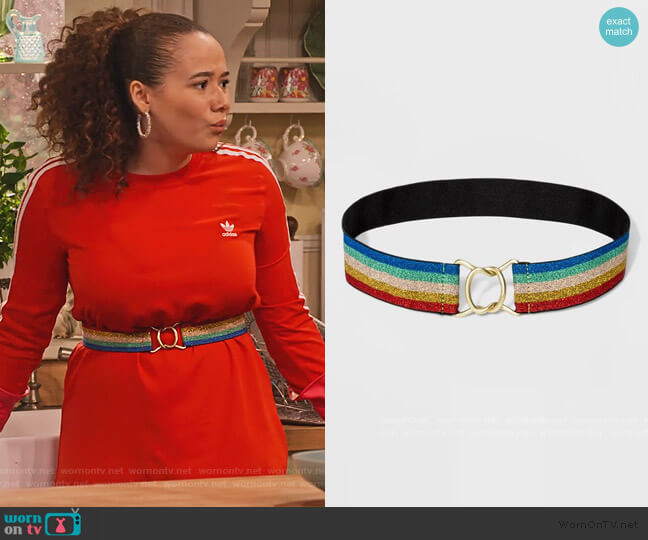Stretch Web Belt by Wild Fable at Target worn by Jade (Talia Jackson) on Family Reunion