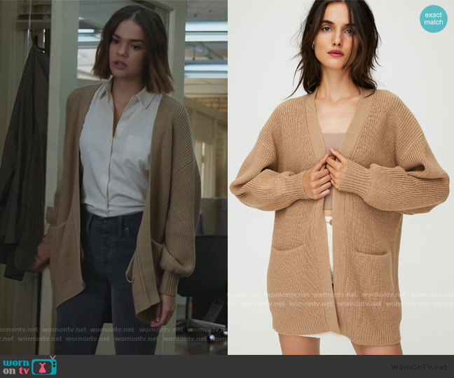 Rourke Sweater by Wilfred Free worn by Callie Foster (Maia Mitchell) on Good Trouble