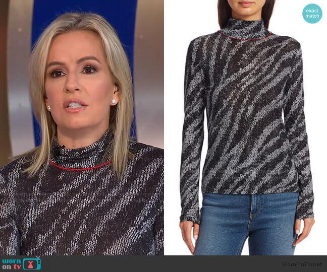 Zebra Shaw Turtleneck Sweater by Rag & Bone worn by Dr. Jennifer Ashton  on Good Morning America