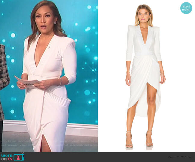 Eye Of Horus Midi Dress by Zhivago worn by Carrie Inaba  on The Talk
