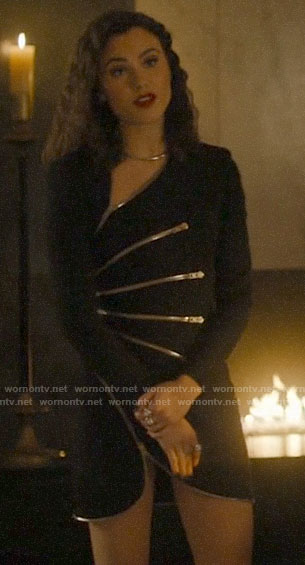 Abigael's black zippers dress on Charmed