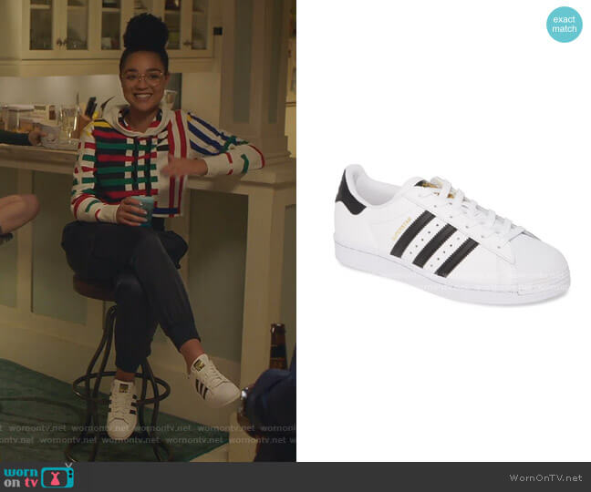 Superstar Sneaker by Adidas worn by Kat Edison (Aisha Dee) on The Bold Type