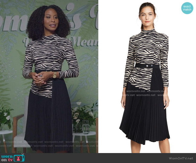 Peyton Dress by A.L.C. worn by Yasha Jackson on The Bold Type