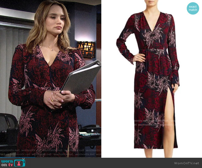 ALC Bailey Dress worn by Summer Newman (Hunter King) on The Young & the Restless