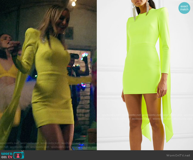 Alex Perry Roberts Dress worn by Nicole Richie on Bless this Mess