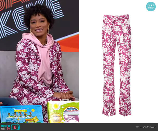 Burgos Floral Print Trousers by Alexis worn by Keke Palmer  on Good Morning America