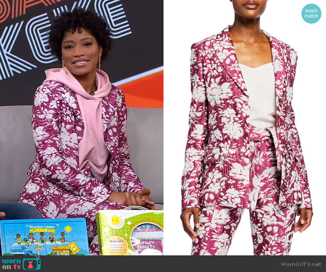 Raquelle Jacquard Jacket by Alexis worn by Keke Palmer  on Good Morning America