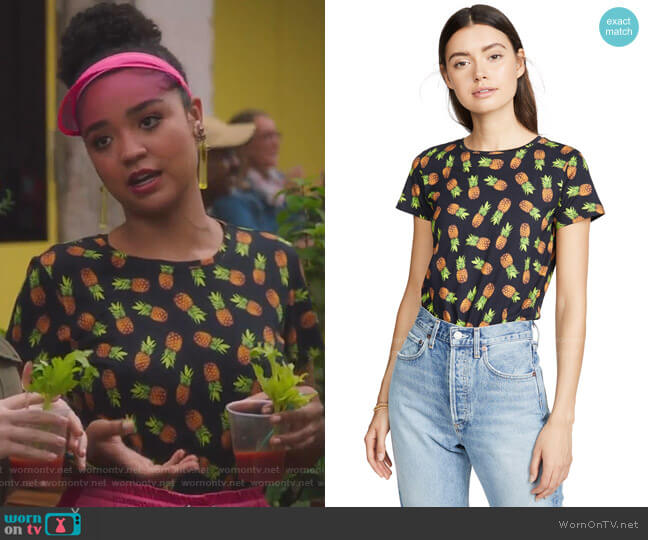 Rylyn Crew Neck Top by Alice + Olivia worn by Kat Edison (Aisha Dee) on The Bold Type