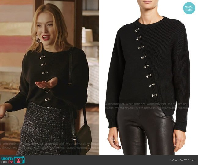 Elyse Hardware Wool Sweater by Alice + Olivia worn by Kirby Anders (Maddison Brown) on Dynasty