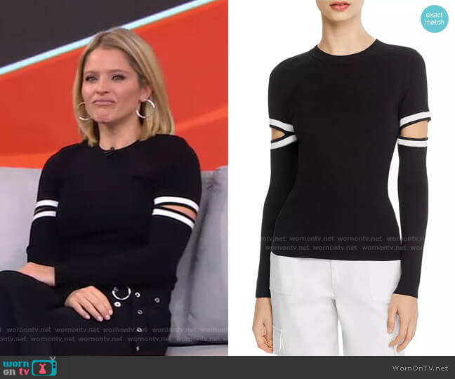 Jazi Sweater by Alice + Olivia worn by Sara Haines  on Good Morning America