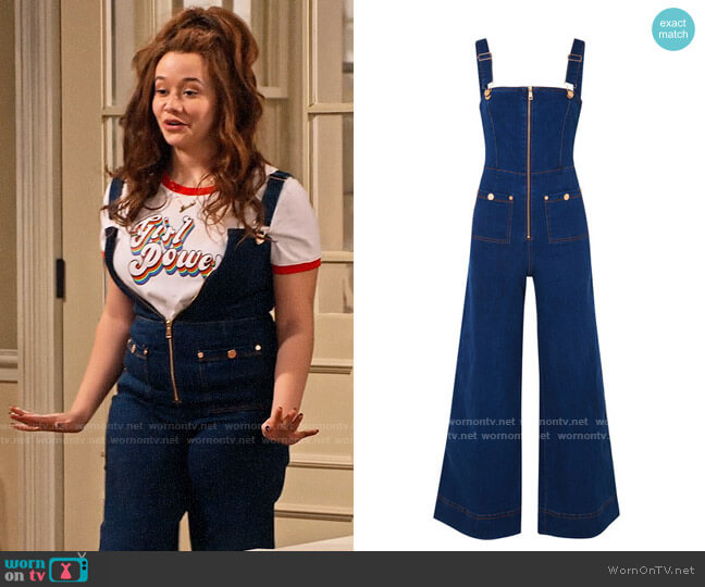 Alice McCall Quincy Overalls worn by Jade (Talia Jackson) on Family Reunion