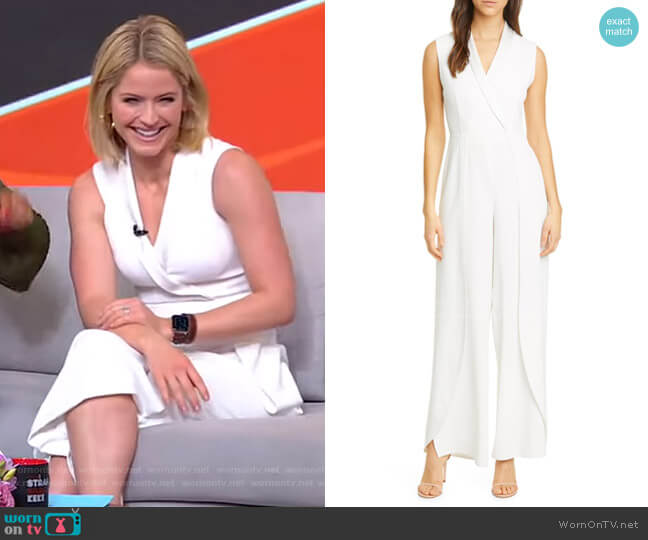 Bebe Jumpsuit by Alice + Olivia worn by Sara Haines  on Good Morning America