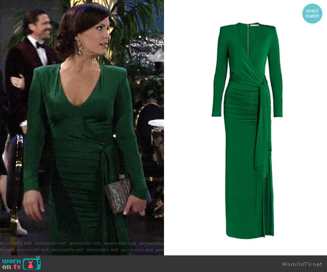 Alice + Olivia Kyra Maxi Dress worn by Chelsea Lawson (Melissa Claire Egan) on The Young & the Restless
