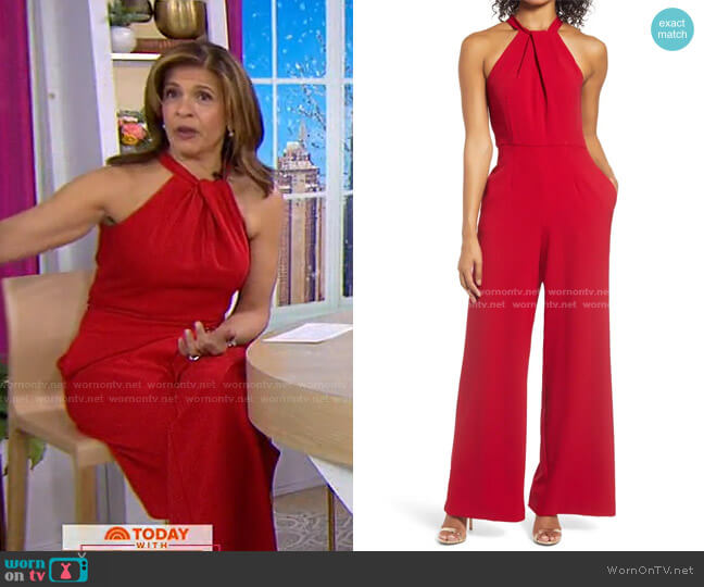 Halter Neck Jumpsuit by Julia Jordan worn by Hoda Kotb  on Today