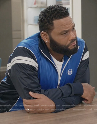 Andre's blue track jacket on Black-ish