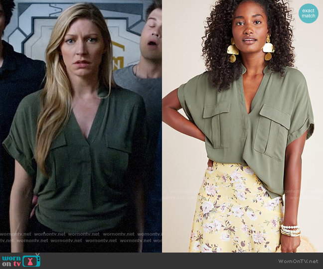 Anthropologie Maeve Amira Utility Top worn by Ava Sharpe (Jes Macallan) on Legends of Tomorrow