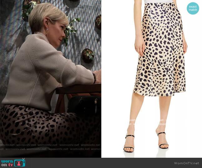 Aqua Midi Slip Skirt worn by Ava Jerome (Maura West) on General Hospital